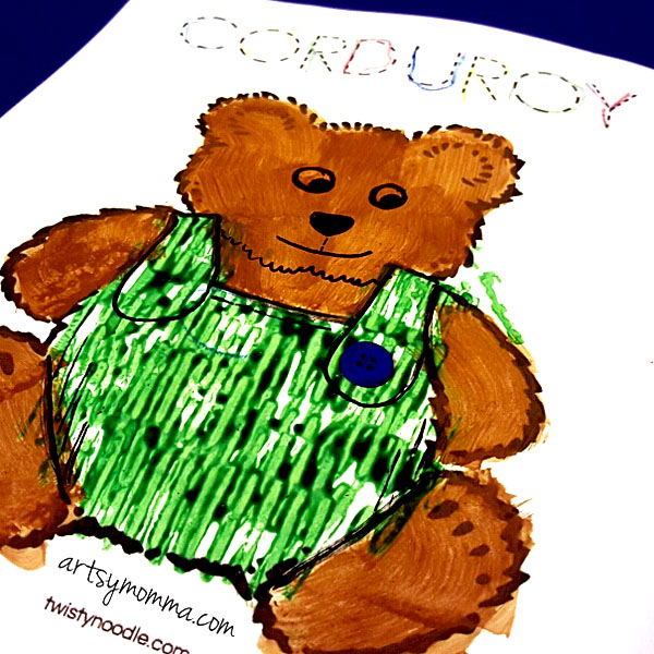 Book Extension for Corduroy - Bear Painting Craft