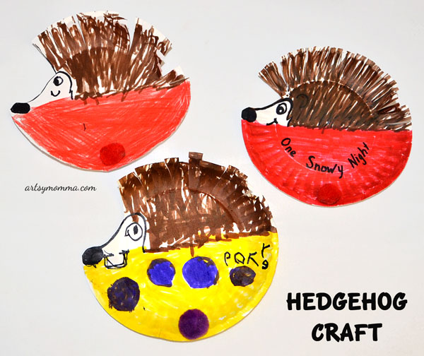 Preschool Paper Plate Hedgehog Craft for a Hibernation Theme