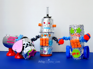 Recycled Robots - Robo Dog Craft