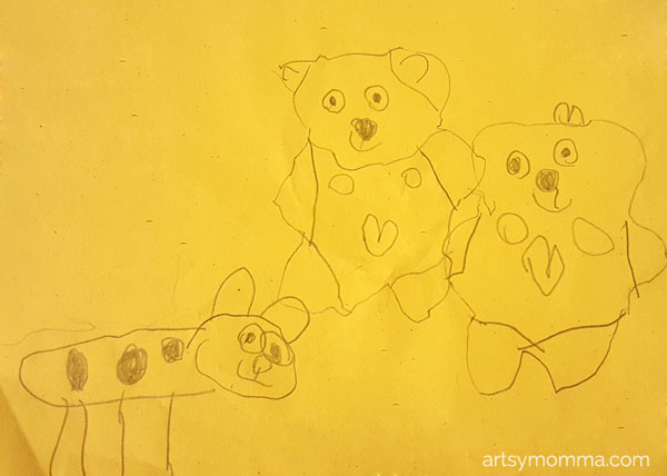 Teddy Bear Preschool Drawing