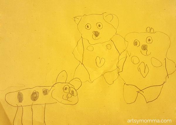 Teddy Bear Preschool Drawing