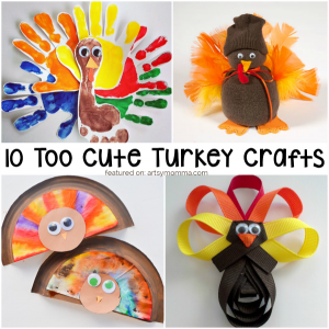 10 Too Cute Turkey Crafts for Thanksgiving