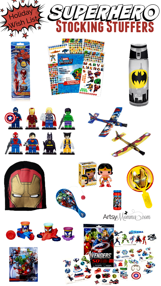 SUperhero Toy Ideas for Gifts or Stocking Stuffers