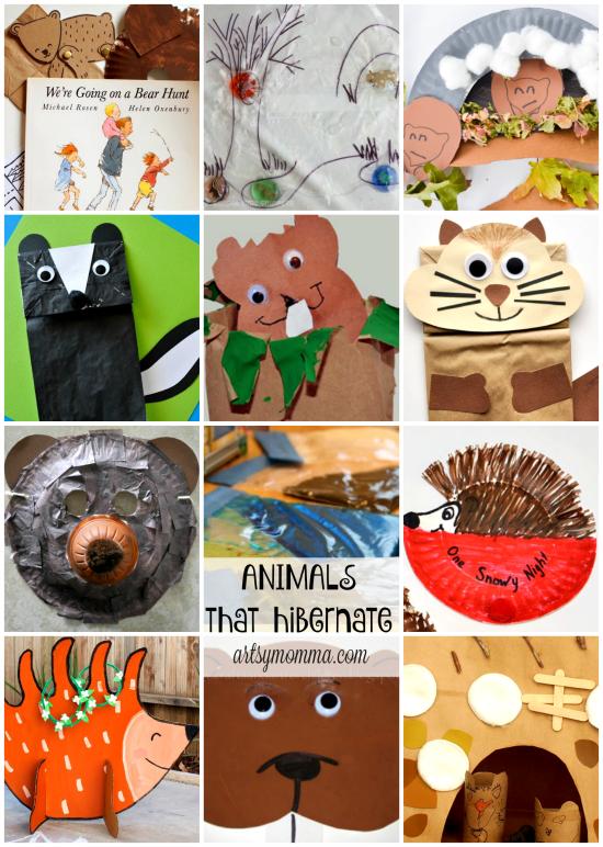 Fun preschool hibernation theme activities artsy momma for Hibernation crafts for kids
