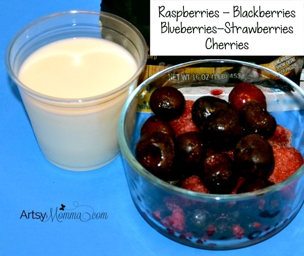 Cherry Berry Smoothie Ingredients