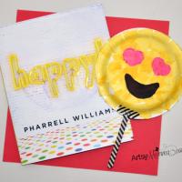 Happy by Pharrell Williams & Paper Plate Emoji Craft