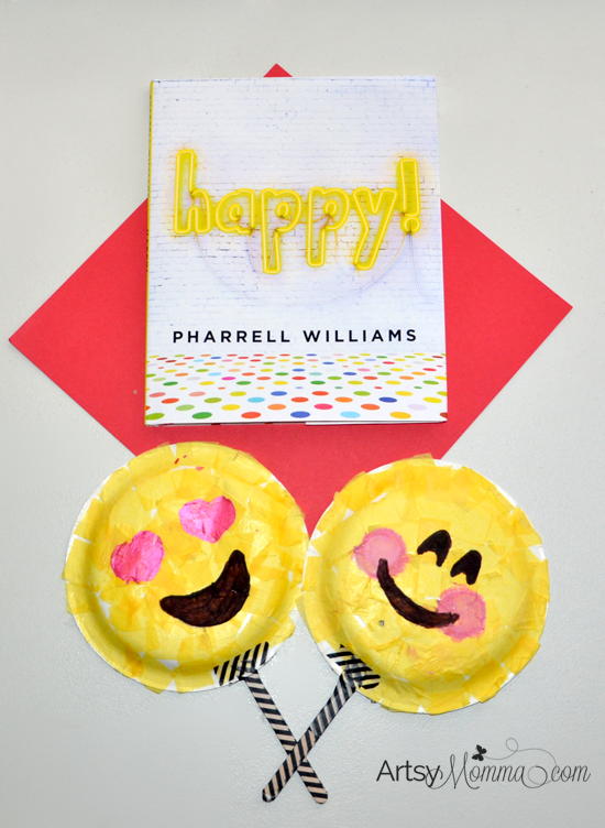 Happy by Pharrell WIlliams Book Review - Emoji Craft