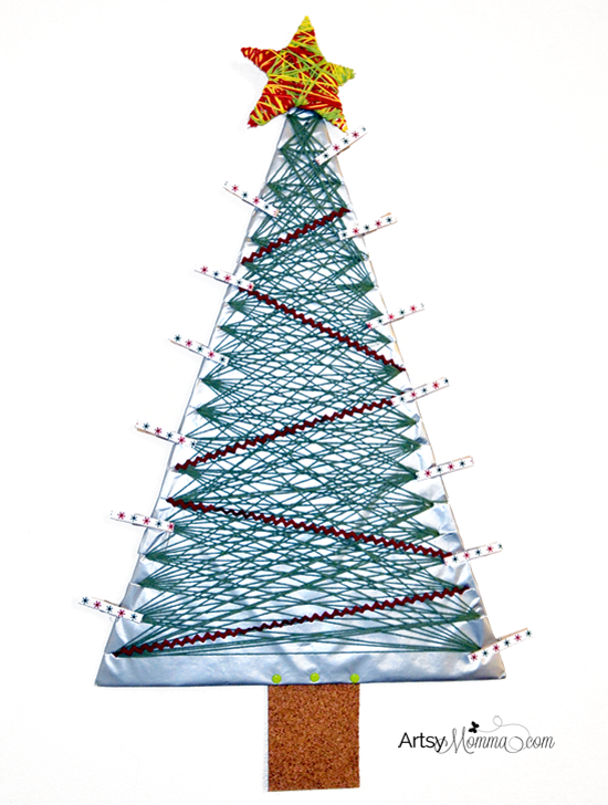 Jumbo Yarn Wrapped Christmas Tree & Star Craft