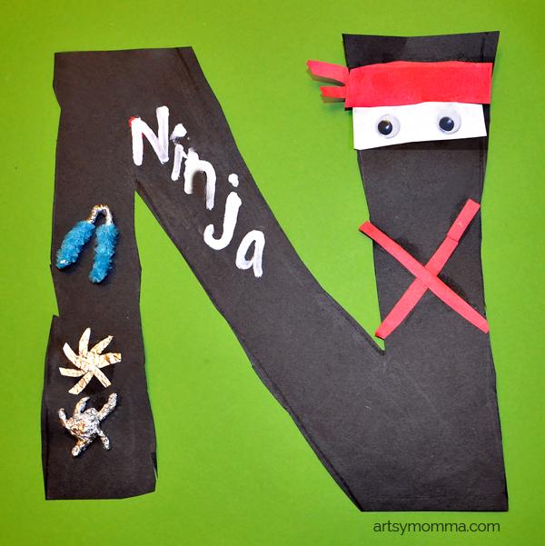 N is for Ninja - Preschool Letter of the Week Craft