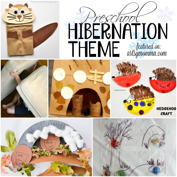 Fun Preschool Hibernation Theme Activities Artsy Momma