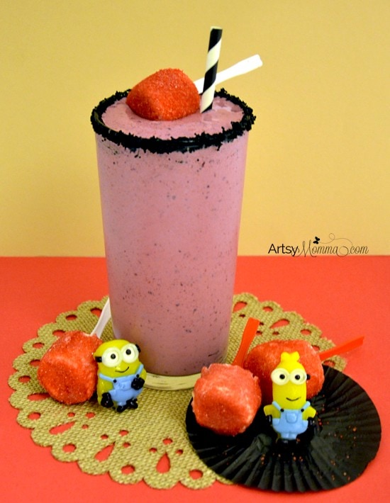 Scarlet Overkill Smoothie - Minions Movie Night Snack