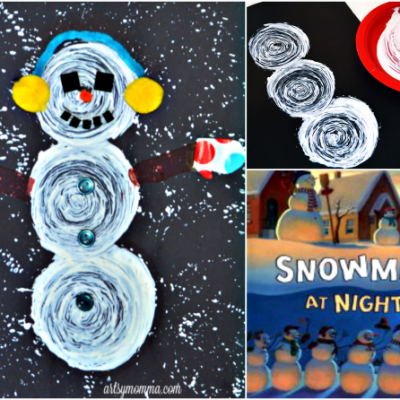 Creative Snowmen At Night Art Project