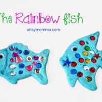 Salt Dough Ornaments Inspired by The Rainbow Fish – Gluten-free Recipe!