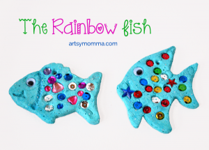 The Rainbow FIsh Salt Dough Craft