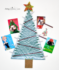 How to make a Yarn Wrapped Christmas Tree Card Holder