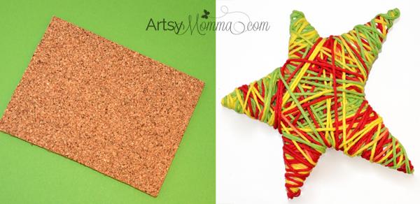 Yarn Wrapped Star - Christmas Craft