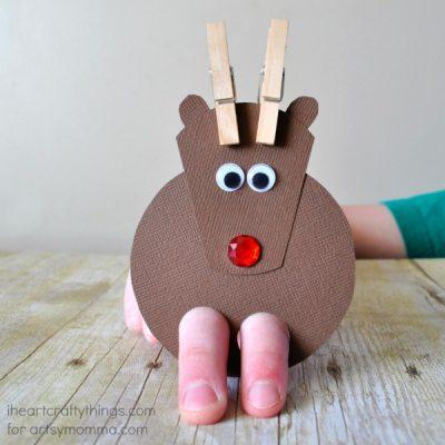 Cutest Ever Reindeer Finger Puppet Craft!