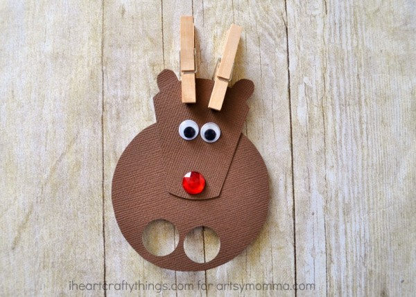 Reindeer Finger Puppets Christmas Craft for Kids