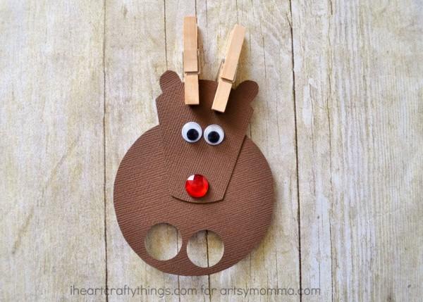 Reindeer Finger Puppets Christmas Craft for Kids