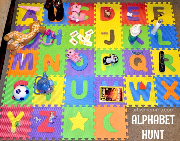 Jumbo Foam Puzzle Alphabet Hunt for Preschoolers