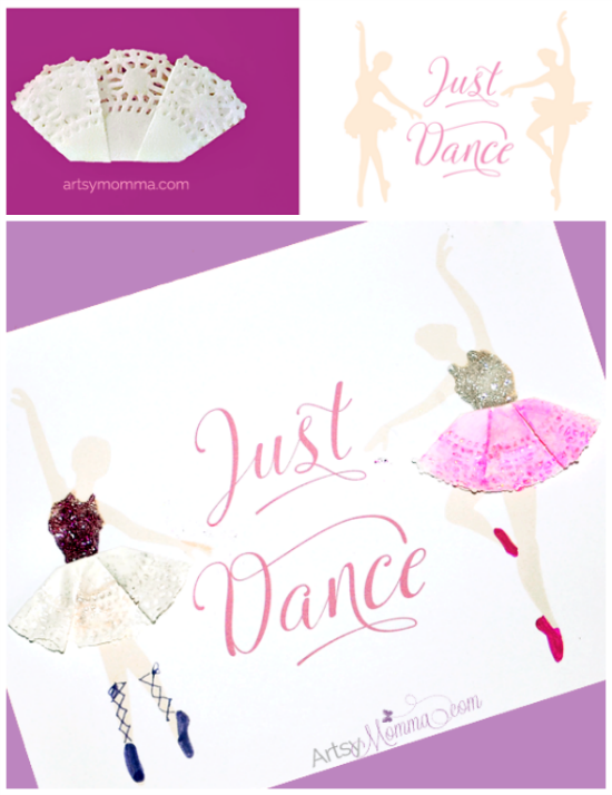 Ballerina Doily Craft - Printable Dance Poster
