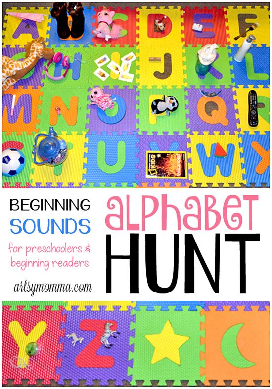 Beginning Sounds Alphabet Hunt for Preschoolers & Beginning Readers