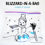 How to make your own Blizzard in a Bag! Preschool Activity