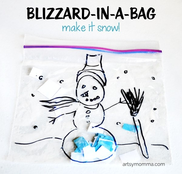How to make a Blizzard-in-a-bag | Preschool Weather Craft