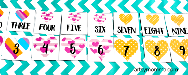 Counting Hearts Number Sequencing Activity for Preschoolers