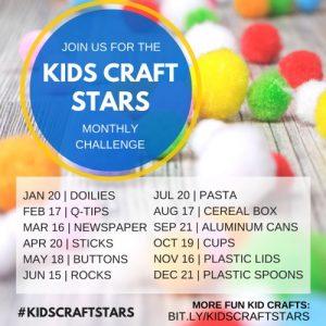 Monthly Kids Craft Challenges