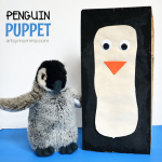 Craft & Play with a Paper Bag Penguin Puppet + Cute Book!