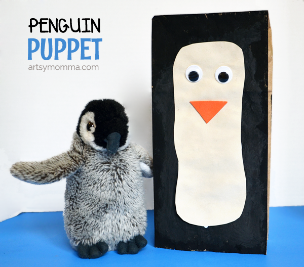 Paper Bag Penguin Puppet & If You Were a Penguin Book