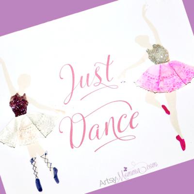 Tutu Doily Craft & Printable Ballerina Poster