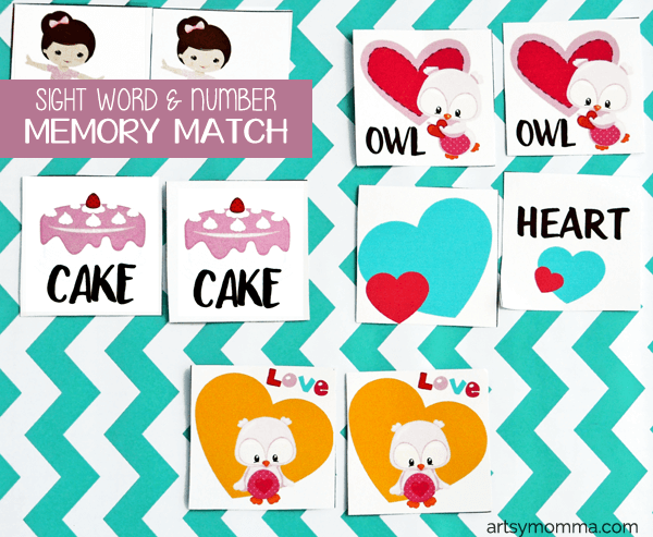 Printable Memory Match Valentine's Day Game