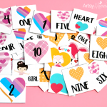 Heart Memory Match Game Printable
