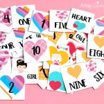 Heart Memory Match Game Printable