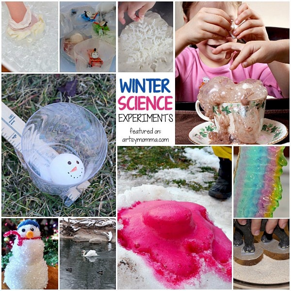 25 Winter Science Activities to do with kids!