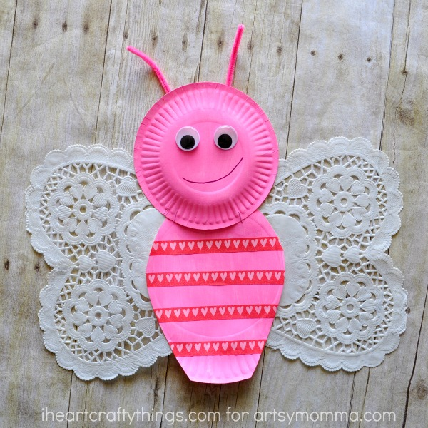 Adorable Doily Butterfly Craft for Kids