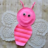 Sweet & Lovely Paper Plate Butterfly Kids Craft