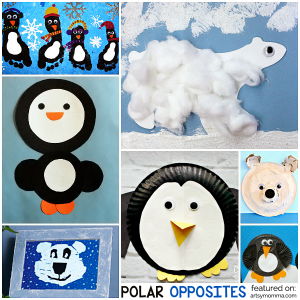 Polar Opposites: Penguin & Polar Bear Crafts for Kids