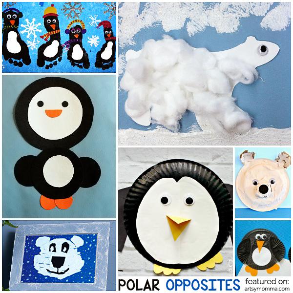 Polar Opposites: Crafty Penguins and Polar Bears