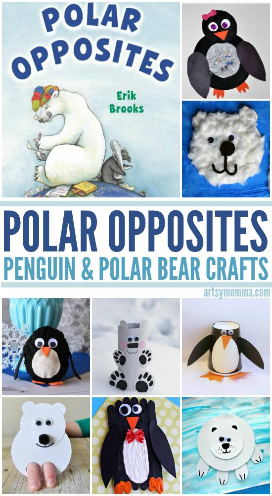 Polar Opposites Crafty Penguins And Polar Bears Artsy Momma
