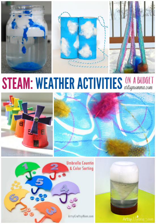 Stem On A Budget 50 Creative Weather Activities Artsy Momma