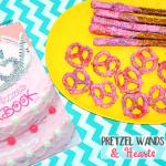 Pink Princess Cookbook - Pretzel Wands & Hearts