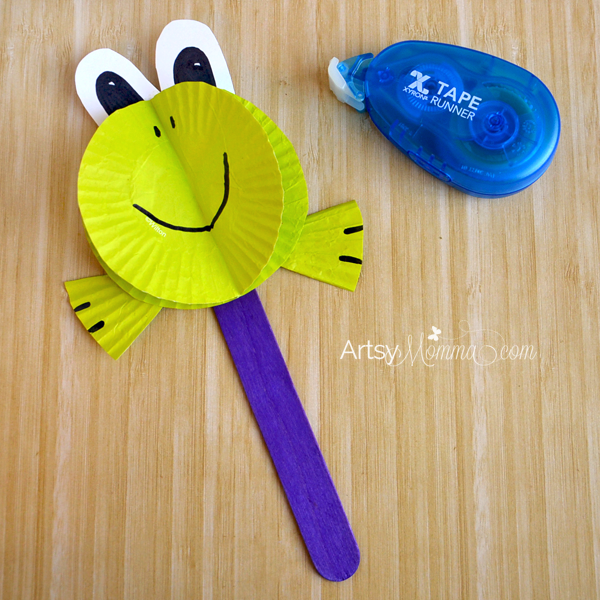 3D Paper Craft: Cupcake Liner Frog Tutorial