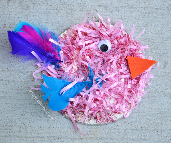 Repurposed Easter Grass Hair Craft Idea For Kids To Make