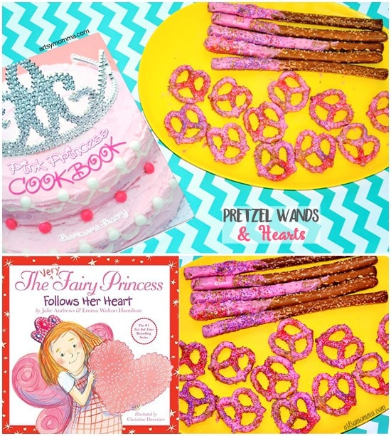Fairy Princess Valentine's Baking Day - Cute Books + Candy Coated Pretzel Snacks