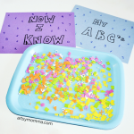 Fun Foam Sticker Letter Match Activity for Preschoolers