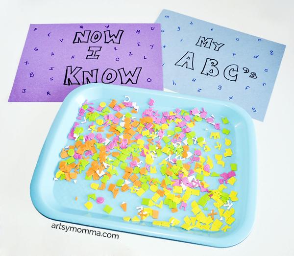 Fun Foam Sticker Letter Match Activity for Preschoolers