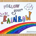 'When I Grow Up' Collage Craft + Follow Your Rainbow Printable